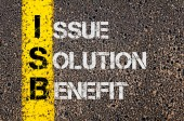 Business Acronym ISB as Issue Solution Benefit — Stock Photo
