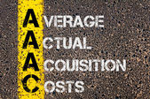 Business Acronym AAAC as Average Actual Acquisition Costs — Stock Photo