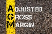 Business Acronym AGM as Adjusted Gross Margin — Stock Photo