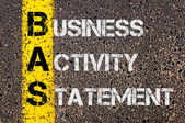 Business Acronym BAS as Business Activity Statement — Stock Photo