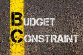 Business Acronym BC as Budget Constraint — Stockfoto