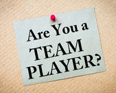Are You A Team Player? Message written on paper note — Stock Photo