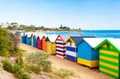 Caixas de banho em Brighton Beach, Austrália — Fotografia Stock