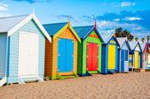 Bathing boxes at Brighton Beach, Australia — Stock Photo