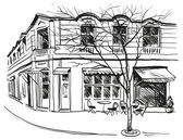 City hand drawn — Stock Vector