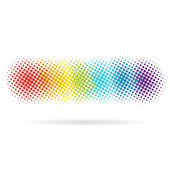 Spotted rainbow pattern backgrounds — Stock Vector