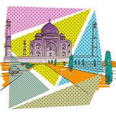 Taj Mahal — Stock Vector