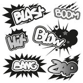 Comic book explosions — Stock Vector