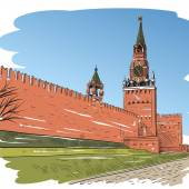 Moscow Red square — Stock Vector