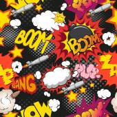 Comic book explosion pattern, — Stock Vector
