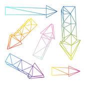 Set van pijlen — Stockvector