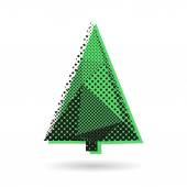 Fir tree abstract illustration — Stock Vector
