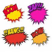 Comic book explosions — Stock Vector