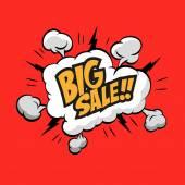 Sale boom explosion — Stock Vector