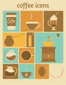 Coffee icons — Stock Vector
