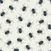 Seamless pattern with spiders — Stock Vector