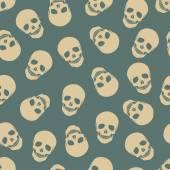 頭蓋骨とのシームレスなパターン. — ストックベクタ