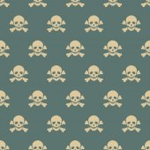 Seamless pattern with skulls. — Stock Vector