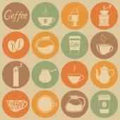 Coffee icons. — Stock Vector