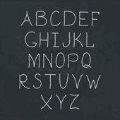 Handwritten Alphabet. — Stockvektor