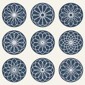 Ornamentos geométricos simples. — Vector de stock