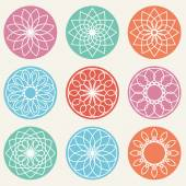 Simple geometric ornaments — Stock Vector