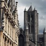 Ghent gothic medieval architecture, Belgium — Stock Photo #79501934