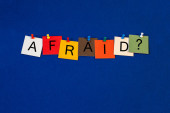 Afraid ..? Sign for fear, stress, worry, healthcare and mental health. — Stockfoto
