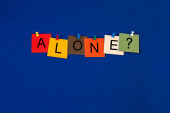 Alone ..? Sign for healthcare, medical fitness and mental health — Stockfoto