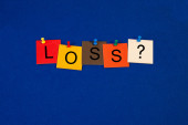 Loss ...? Sign for the negative side of life, bereavement, health. — Stock Photo