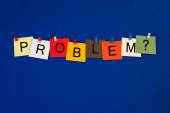 Problem ..? Sign for worry, concern, healthcare and mental health. — Stock Photo