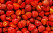 Strawberry Panorama. — Stock Photo