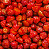 Strawberries background. — Stock Photo
