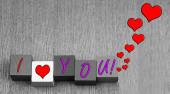 I Love You, sign or art design for Valentines Day. — Photo