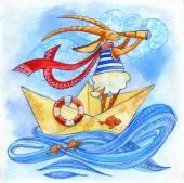 Goat sailor — Stock Photo