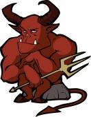 Demon Halloween character — Stok Vektör
