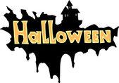 Halloween title — Stock Vector