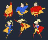 Superhero collection — Stock Vector
