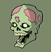 Zombie head — Stock Vector