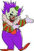 Scary evil clown — Stock Vector