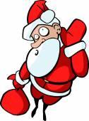 Surprised Santa Claus — Stock Vector