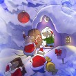 Mice going to christmas party — Stock Photo #60132943