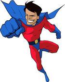 Mighty superhero — Stock Vector