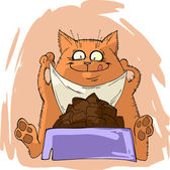 Funny fat cat — Stock Vector