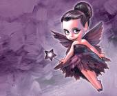 Beautiful gothic fairy — Stock Photo