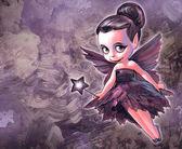 Beautiful gothic fairy — Stock Photo