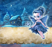 Beautiful frost fairy — Stock Photo