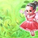 Beautiful fairy holding magic stick — Stock Photo #64708177