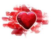 Красные Плюшевые сердца — Стоковое фото