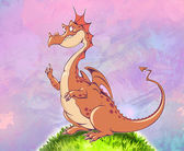 Cartoon funny dragon — Fotografia Stock